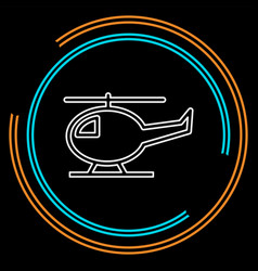 Helicopter icon copter vector