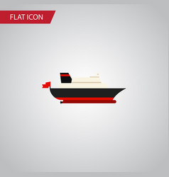 isolated transport flat icon cargo element vector image