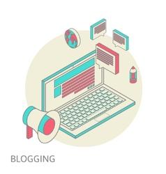 Isometric design modern concept of blogging vector image