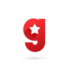 Letter g star logo icon design template elements vector