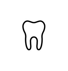 Line tooth icon on white background vector