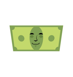 Money sleeps emotion cash emoji tired dollar vector