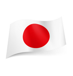 National flag of japan red sun on white vector