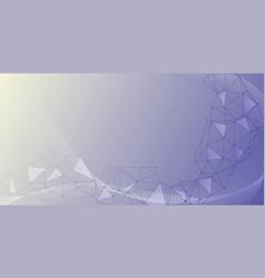 network nodes big data visualization background vector image
