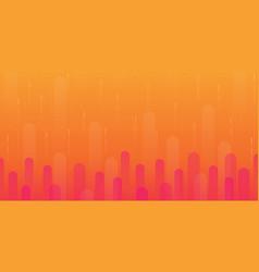 orange gradient geometric shape background vector image