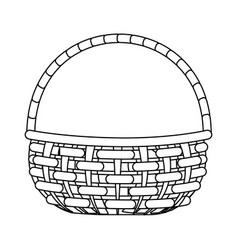 Picnic basket cartoon vector