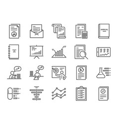 Report icon set vector