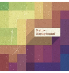 Retro colorful rectangles background op vector