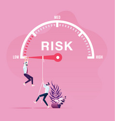 Risk management concept vector