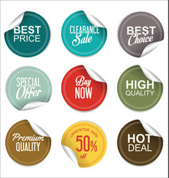 sale price tag collection vector image