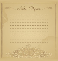 Scrapbook vintage lined notepaper vector