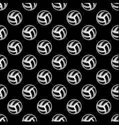seamless black volleyball background vector image