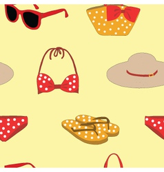Seamless of Summer clothes vector image