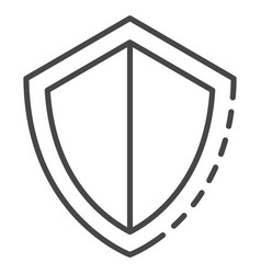 secured shield icon outline style vector image