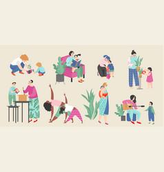 Set on theme motherhood vector