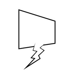 Speech bubble message icon vector