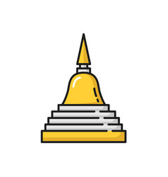 Stupa of reconciliation buddhism religious symbol vector