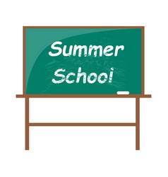 Summer school blackboard with piece of chalk vector