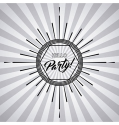 Text icon Party and Disco design graphic vector image