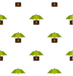 Umbrella and diplomat pattern flat vector