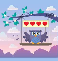 valentine owl topic image 8 vector image