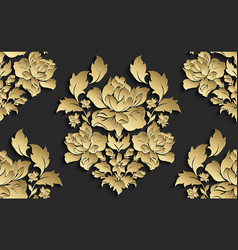 wallpaper in style baroque damask vector image