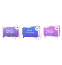 Webinar concept online distance communication vector