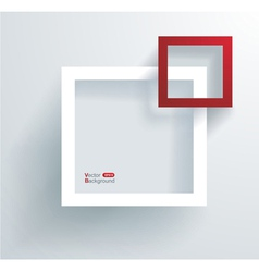 white and red frames on wall vector image
