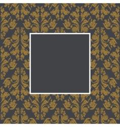 damask pattern and frame vector image