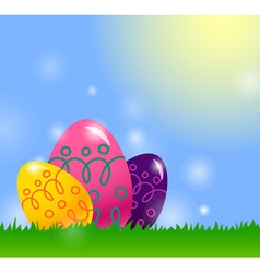 Easter background with Easter egg vector image vector image