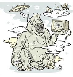 gorilla in the mist vector image