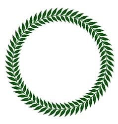 green laurel wreaths - vector image vector image