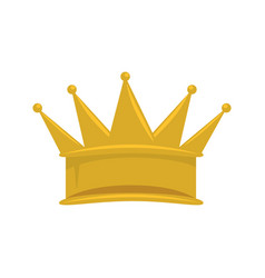 king crown isolated icon vector image vector image