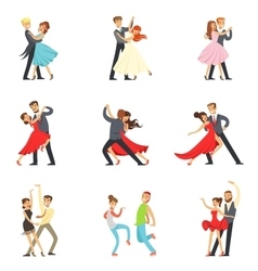 Professional Dancer Couple Dancing Tango Waltz vector image
