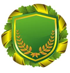 shield green vector image vector image