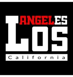 T shirt typography Los Angeles black vector image vector image