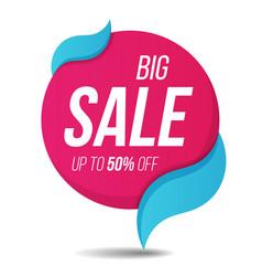 big sale label price tag banner sticker badge vector image