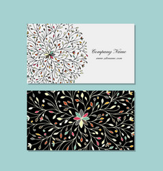 business card design floral mandala vector image