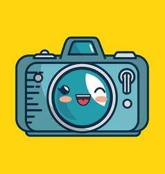camera photographic character handmade drawn vector image