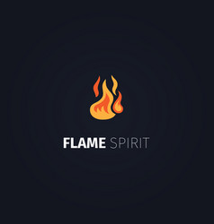flame spirit logo template vector image