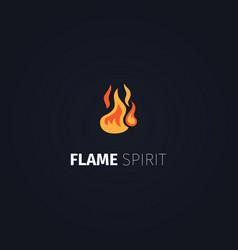 flame spirit logo template vector image vector image
