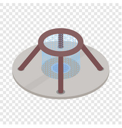 fountain of wealth in singapore isometric icon vector image