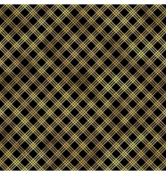 Seamless fashion pattern with gold diamonds vector image