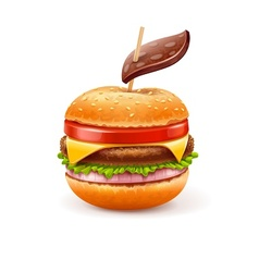 Unhealthy eating concept with vector image vector image