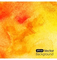 Abstract yellow watercolor background vector image