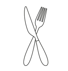 Cutlery tools isolated icon vector