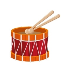 Drum toy kid isolated icon vector