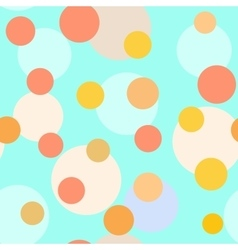 Polka dot pastel seamless pattern vector image