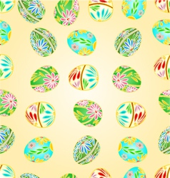 Seamless texture Easter eggs floral pattern vector image vector image
