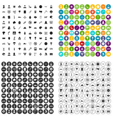 100 phobias icons set variant vector